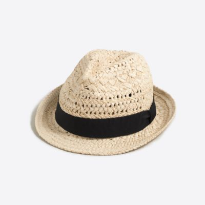 Straw fedora with ribbon factorywomen accessories c