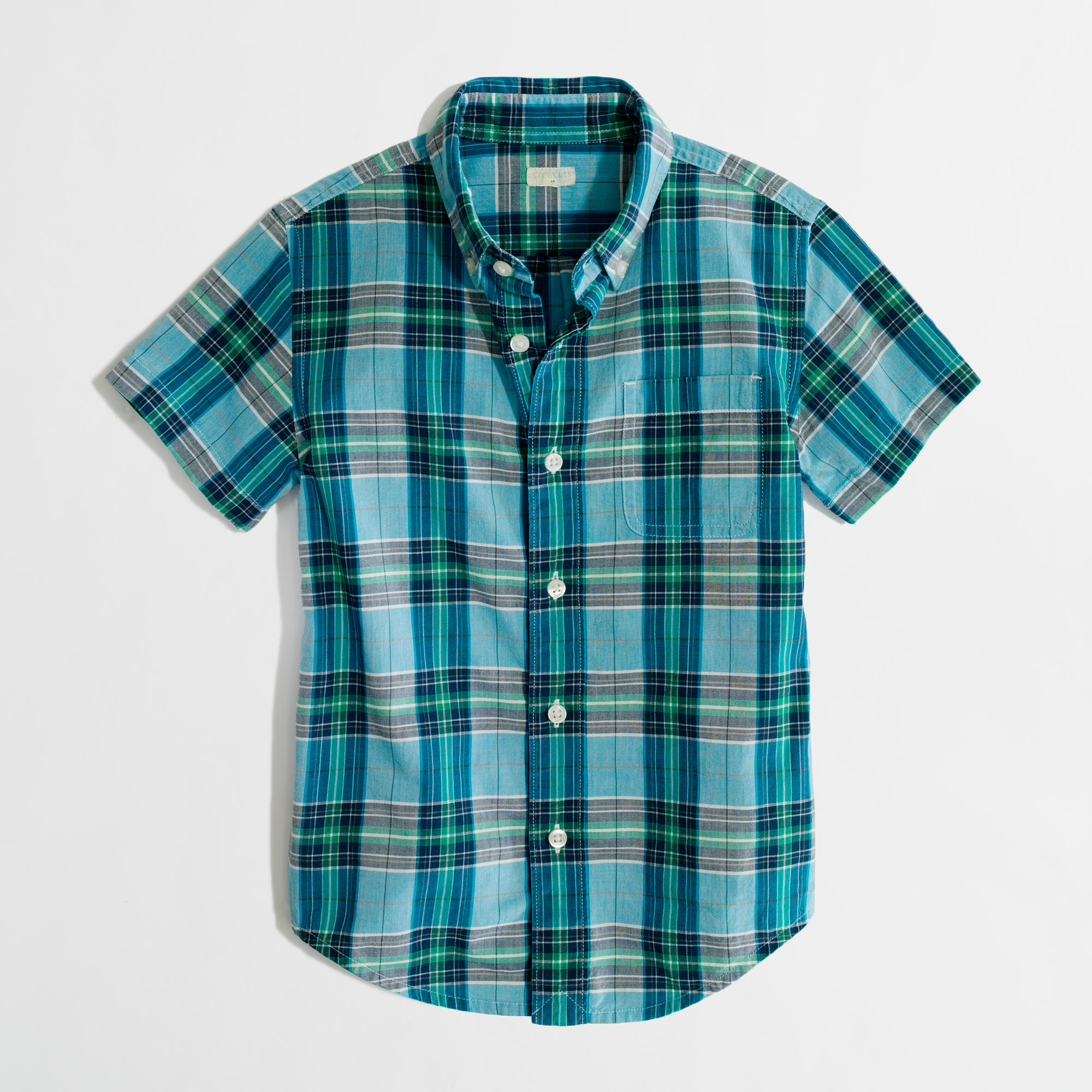 Factory Boys 39 Short Sleeve Washed Button Down Shirt In