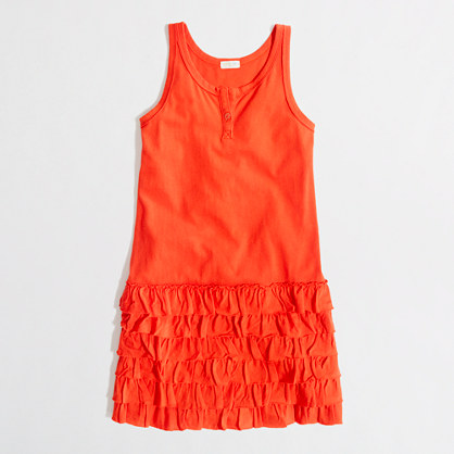 Factory girls' ruffle tank dress