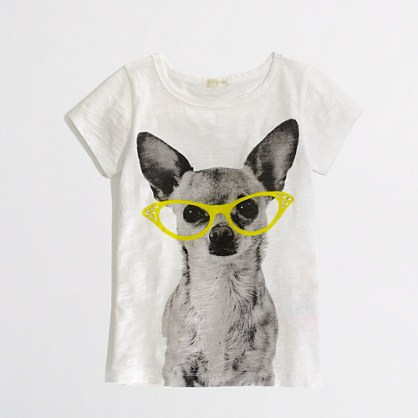 Factory girls' jeweled diva dog keepsake tee