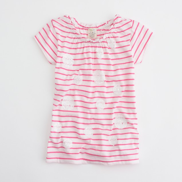Factory girls' stripes and sequins tee