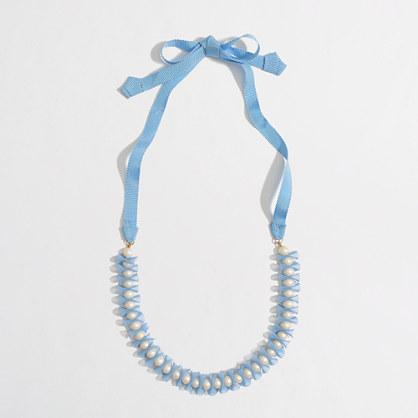 Factory girls' pearl chiffon necklace