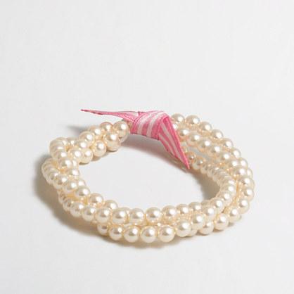 Girls' multistrand pearl bracelet