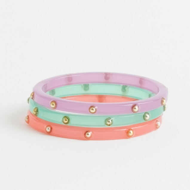 Factory girls' stud bangles