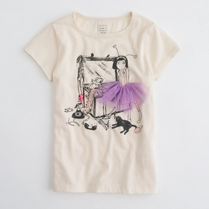 Factory girls' costume trunk keepsake tee