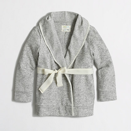 Factory girls' wrap cardigan