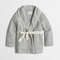 Factory girls' wrap cardigan