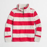 Boys' striped half-zip pullover