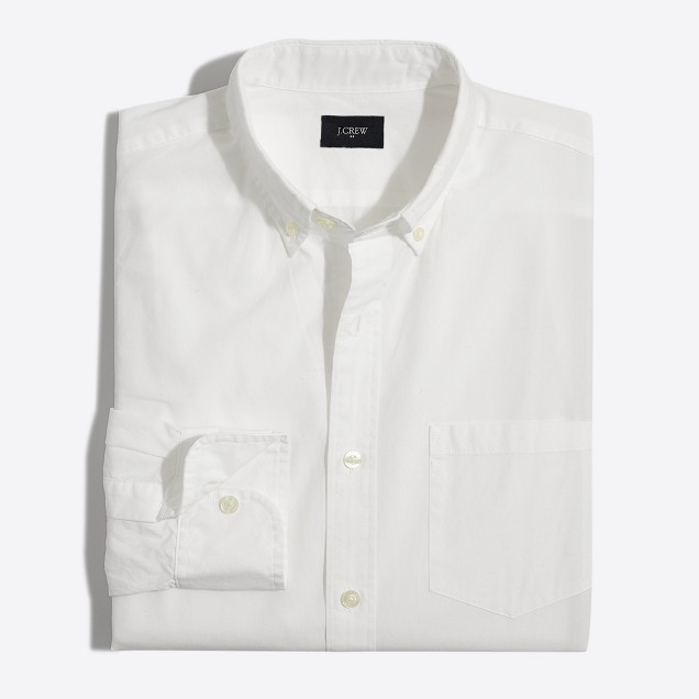 Tall washed white shirt