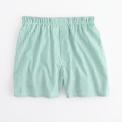 Factory green slim-stripe boxers