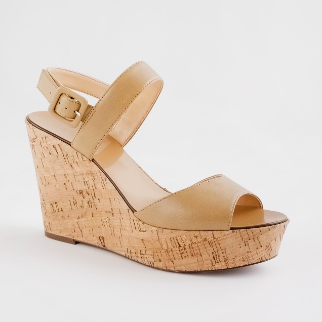 Factory Maryanne leather wedges