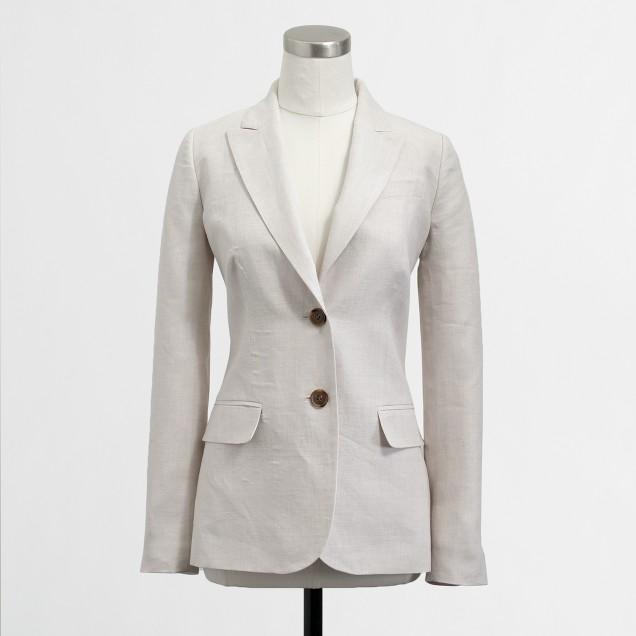 Factory suiting blazer in linen