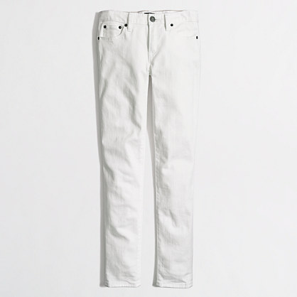 "White skinny ankle jean with 28"" inseam"