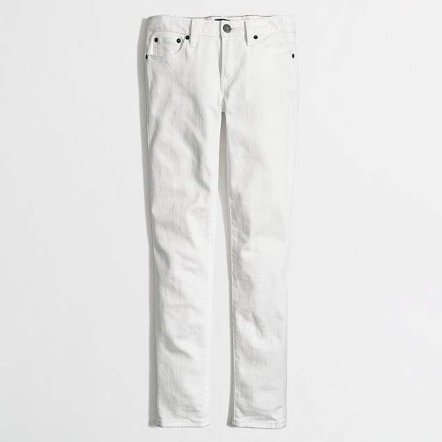 "White skinny jean with 26"" inseam"