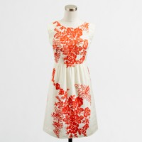 Factory floral embroidered cap-sleeve dress