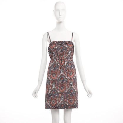 Factory printed ruffle-trim dress