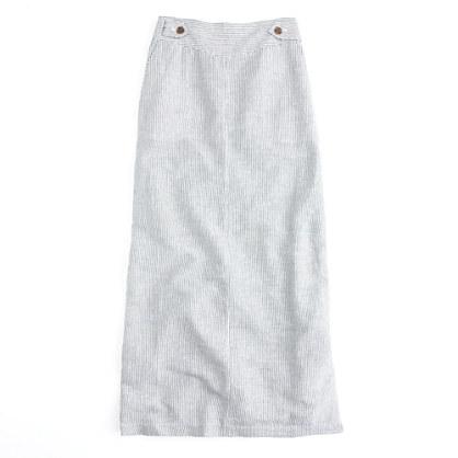 Factory linen stripe maxiskirt