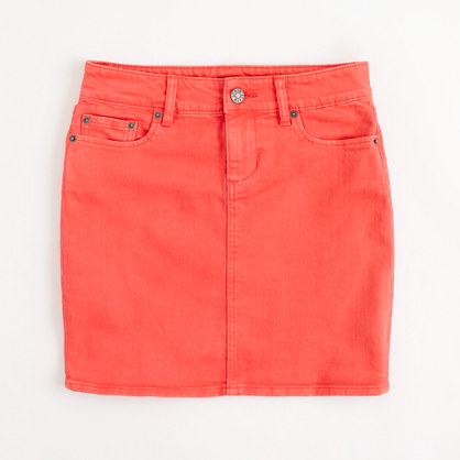 Factory colored denim mini : Skirts | J.Crew Factory