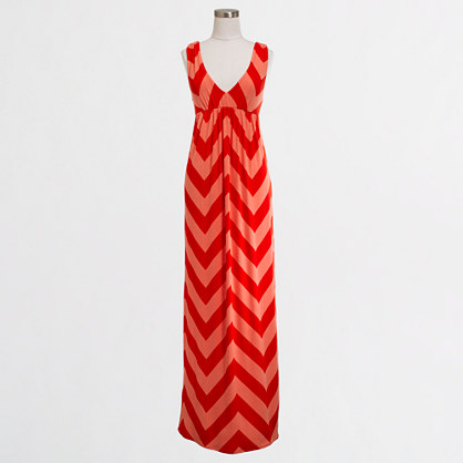 Factory V-neck chevron maxidress