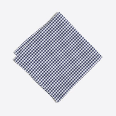 Gingham pocket square factorymen ties & pocket squares c