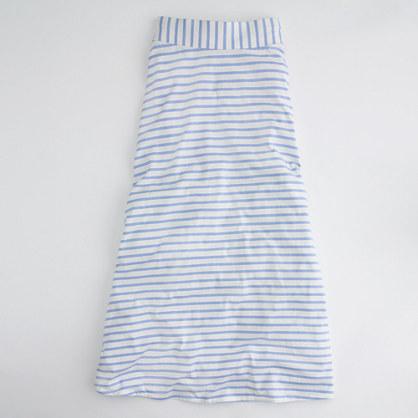 Factory slim-stripe knit maxiskirt