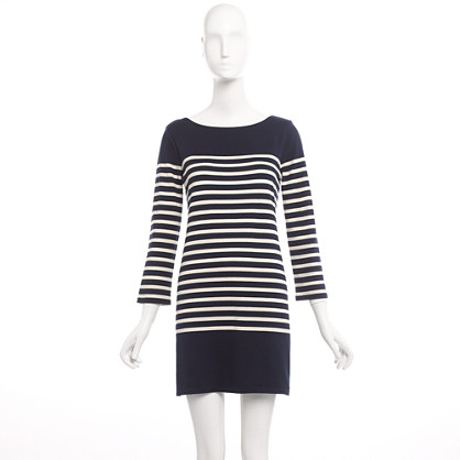 Factory slim-stripe tunic dress
