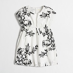 Factory girls' embroidered cap-sleeve dress