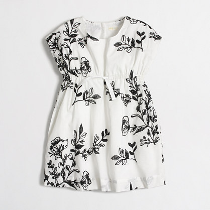 Girls' embroidered cap-sleeve dress