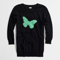 Factory intarsia Charley sweater in butterfly