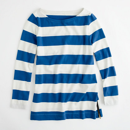 Factory long-sleeve maritime boatneck tee