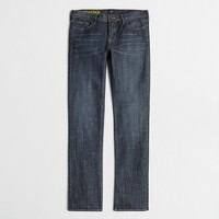 Factory straight and narrow jean in indigo wash