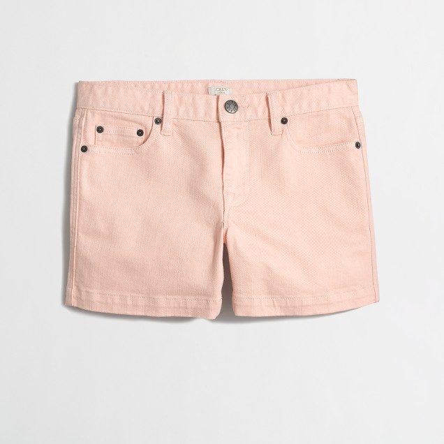 Factory garment-dyed denim short