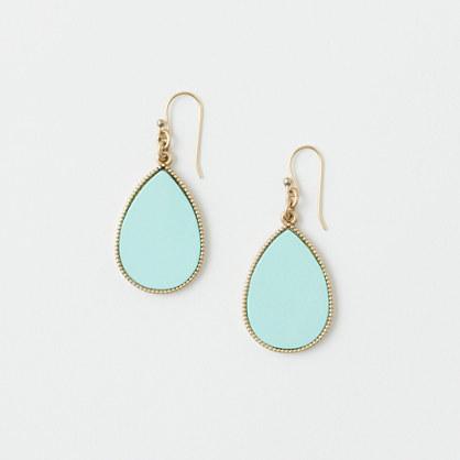 Factory teardrop mother-of-pearl earrings