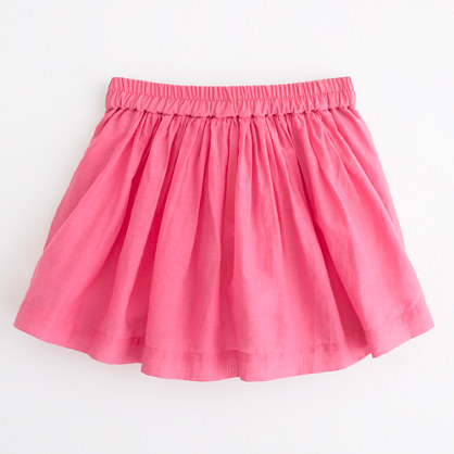 Factory girls' pleated skort