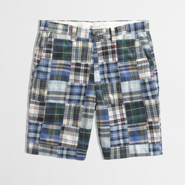 "Factory 9"" Gramercy short in patchwork"