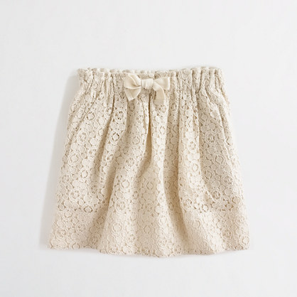 Factory girls' drawstring lace skirt