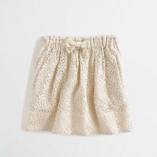 Factory girls' drawstring lace skirt