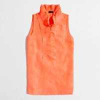 Factory micropleated collar cami