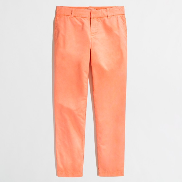 Factory oxford cropped chino