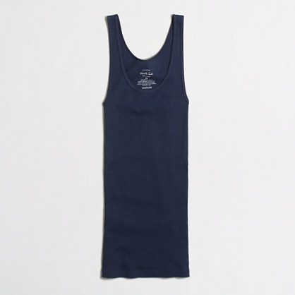 Factory ribbed cotton tank
