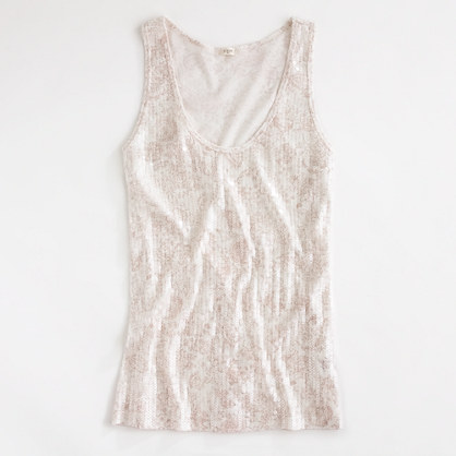 Factory printed sequin tank