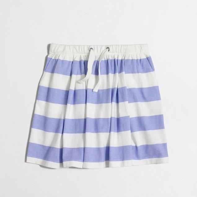 Girls' stripe drawstring skirt