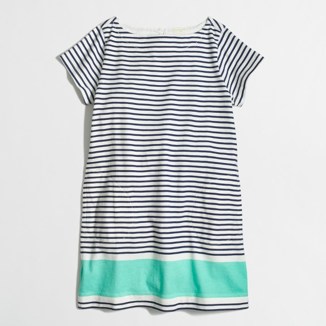 Factory girls' colorblock stripe tee dress