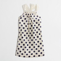 Factory girls' dotted bow-back dress