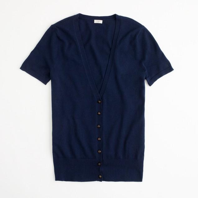 Factory short-sleeve cardigan