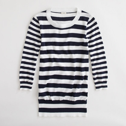 Factory mixed-stripe sweater