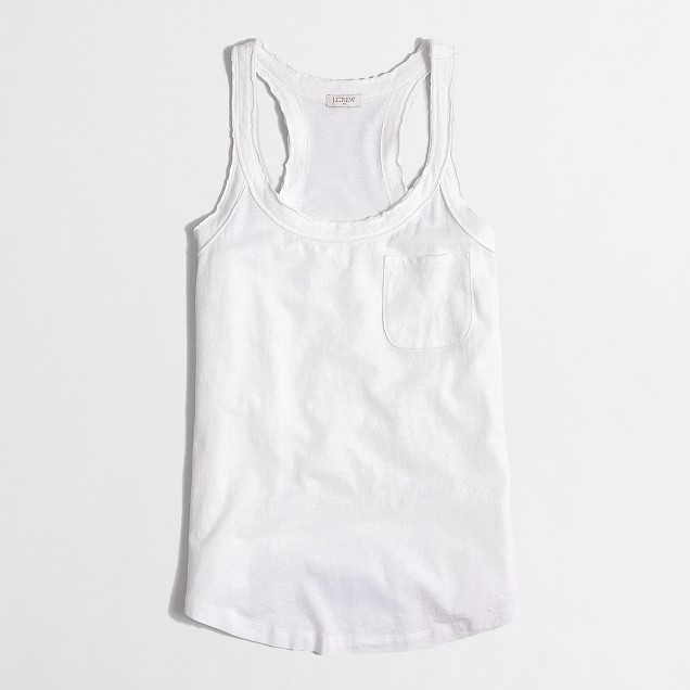 Factory cotton-linen racerback tank