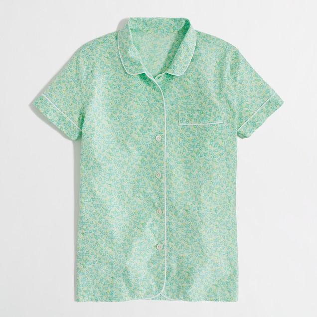 Factory floral cotton sleep shirt