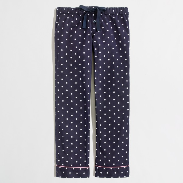 Factory dotted cotton sleep pant