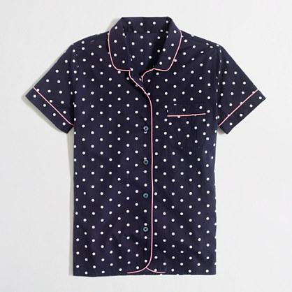 Factory dotted cotton sleep shirt